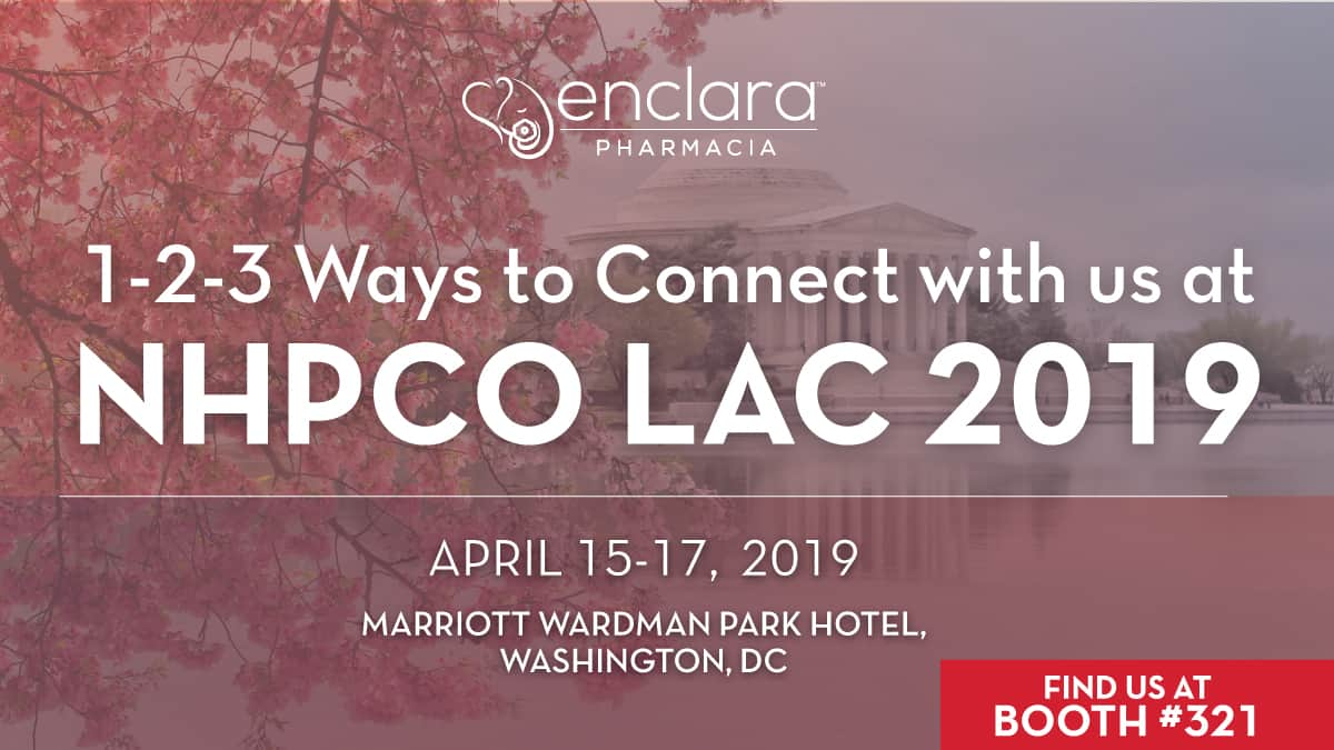 1-2-3 Ways To Connect with Enclara Pharmacia at NHPCO LAC 2019